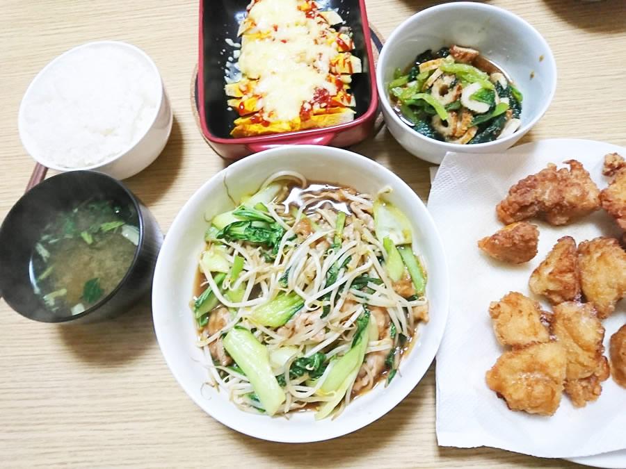 下味冷凍(野菜炒め、かぼちゃ、唐揚げ)
