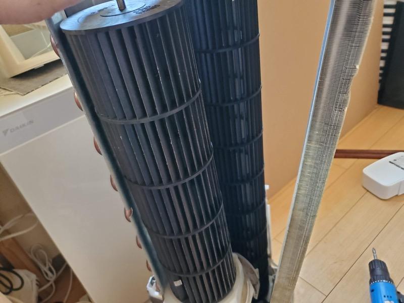 窓用エアコンを分解掃除