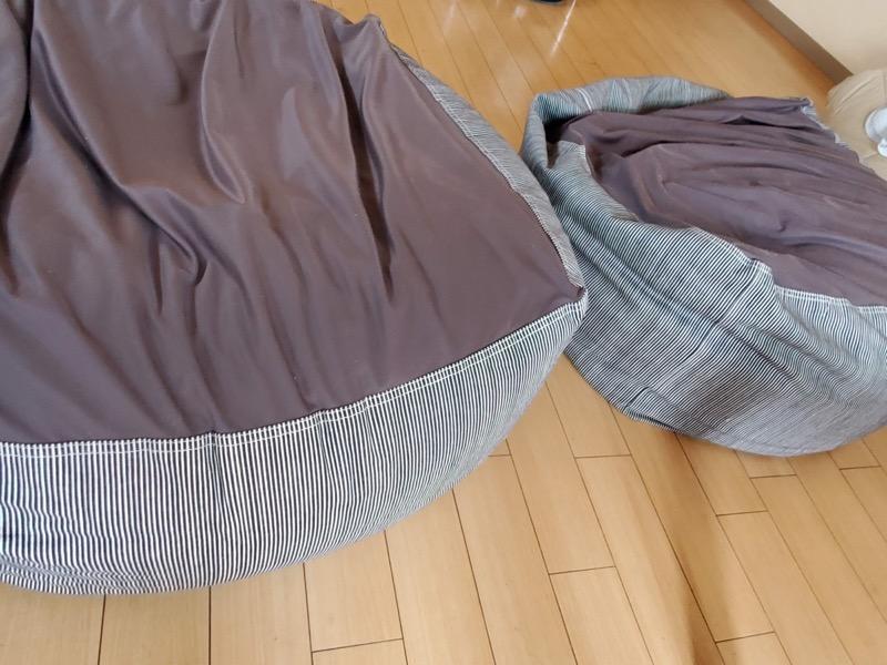 無印の「体にフィットするソファ」をベランダで乾燥させる